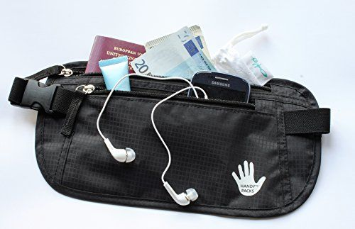 Handy Packs Water Resistant Money Belt for Women and Men - Discreet Fanny Pack - Large Capacity Waist Pack - Secure Travel Wallet - Your Portable Safe Handy Packs http://www.amazon.com/dp/B014MXX2O6/ref=cm_sw_r_pi_dp_u32Nwb1AGCJ72