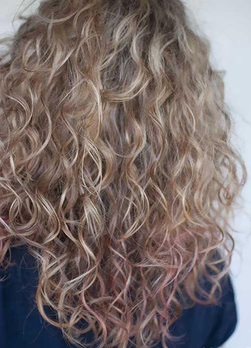 V Formige Schnitt Lose Dauerwelle Frisuren Frisuren Mit Dauerwelle Haarfarben Dauerwelle