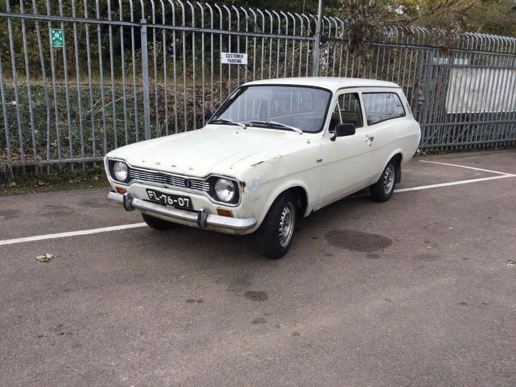 This Mk1 Escort Estate; Ford Escort Mk1, Classic Ford, Rare is for ...