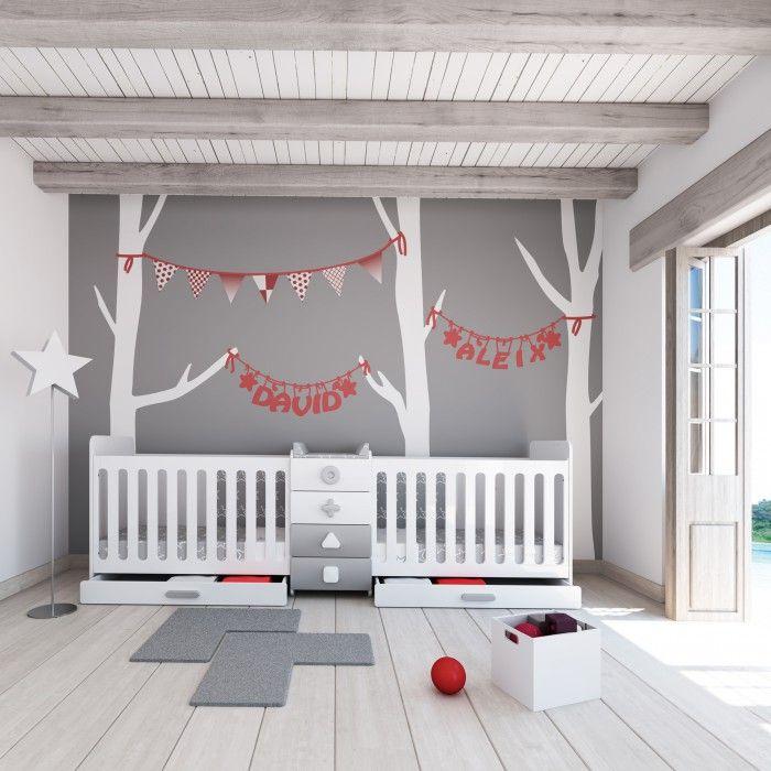 Lit bébé évolutif pour jumeaux · Maths Twin, lits pour jumeaux design , Le  Trésor
