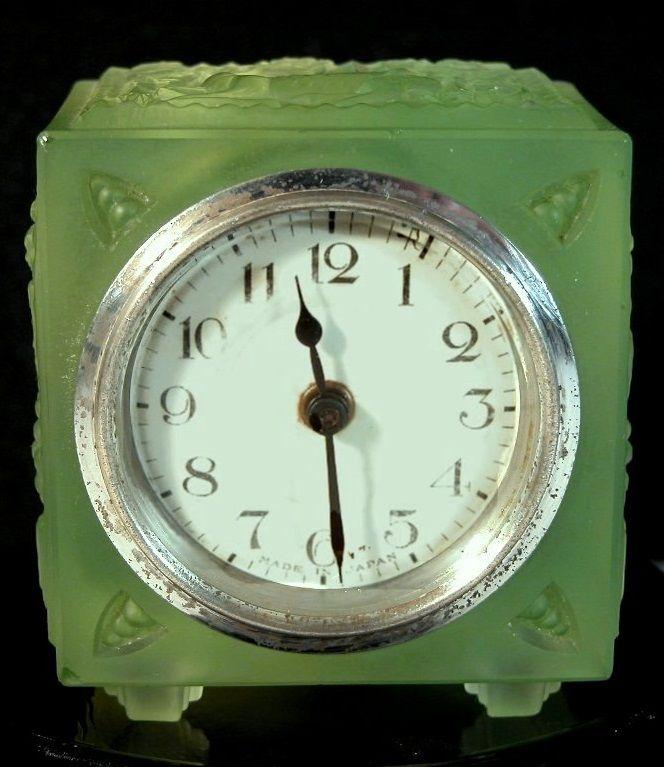 Heinrich Hoffmann Gablonz Bohemia Uranium Glass Bedroom Clock – Bedroom Clock