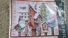 Cross Stitch Kit ~ Dimensions Winter Housing Snowy Birds & Birdhouses #70-08863