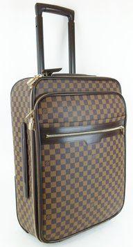 e3729610fd7d Louis Vuitton 55 Rolling Luggage Damier Ebene Travel Bag.
