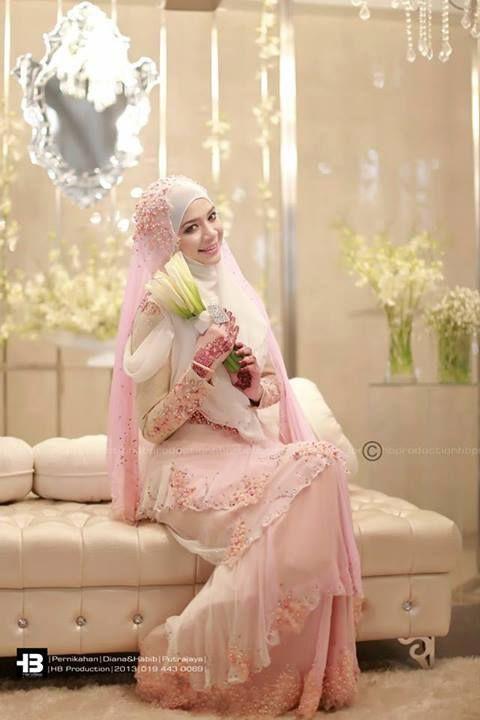 25 Model Kebaya Pengantin Muslim Modern Terbaru 2018 Muslimah