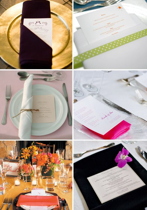 So many creative ways to display your menu with a napkin fold! Dining EtiquetteFolding NapkinsNapkin IdeasTable ... & So many creative ways to display your menu with a napkin fold ...