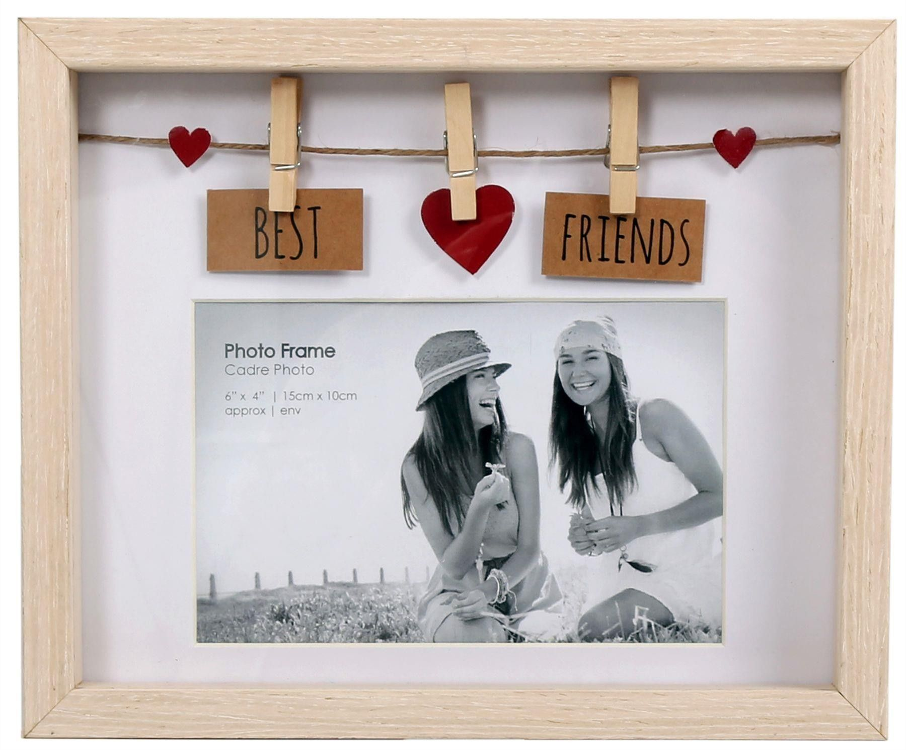 Clothes Line Wooden Box Frame With Pegs For 6 X 4 Photo  Best Friends  Photo Frames  HOME ACCESSORIES  HOUSE  HOME gifts gifts for best friends gifts for boyfriend gifts...