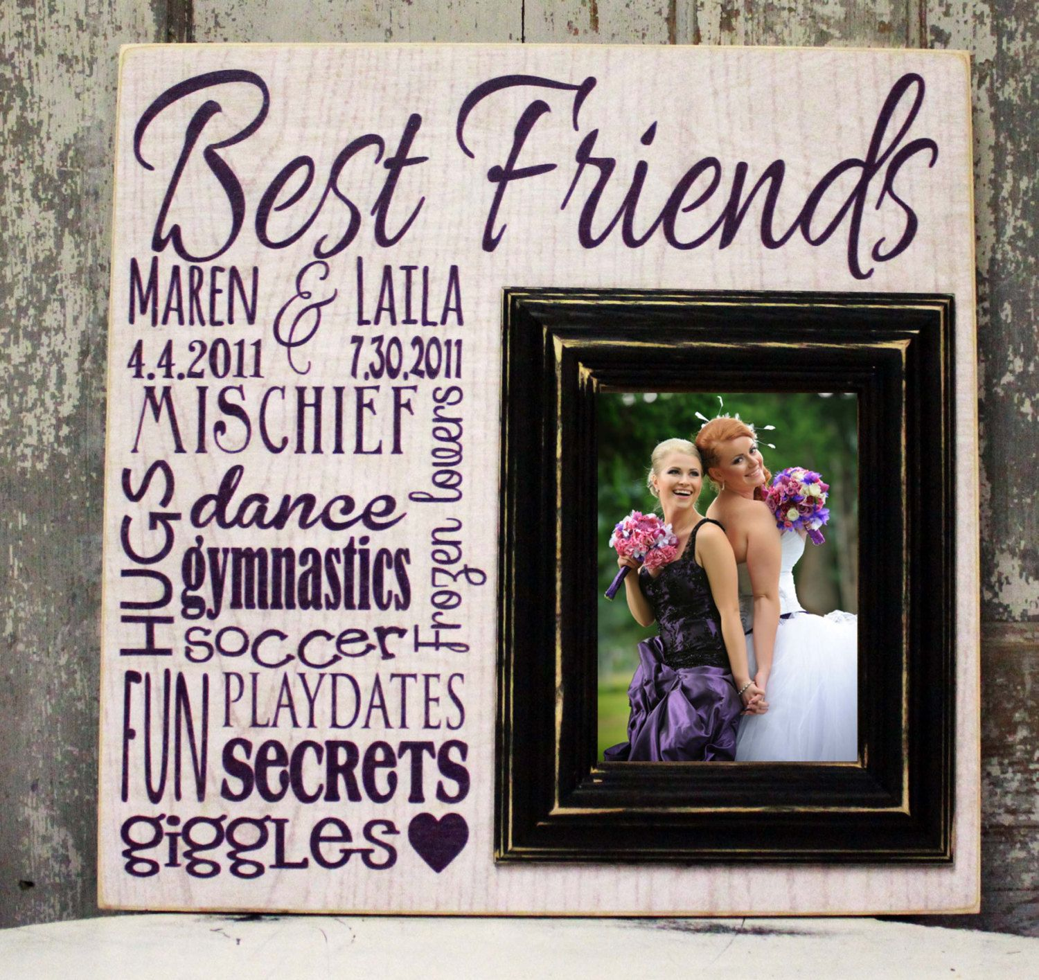 Personalized Best Friends Picture frame, Personalize Picture Frame ...