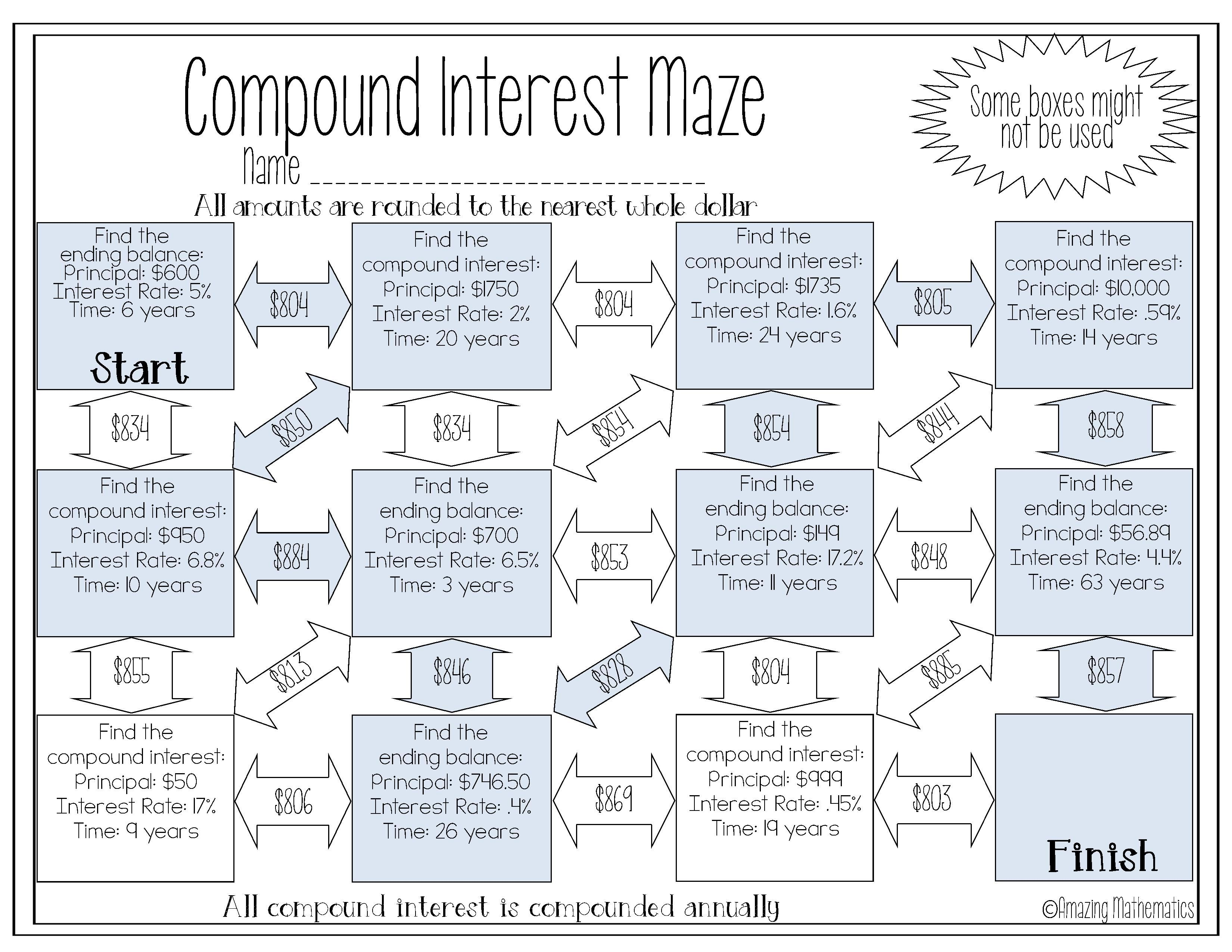 Compound Interest Maze