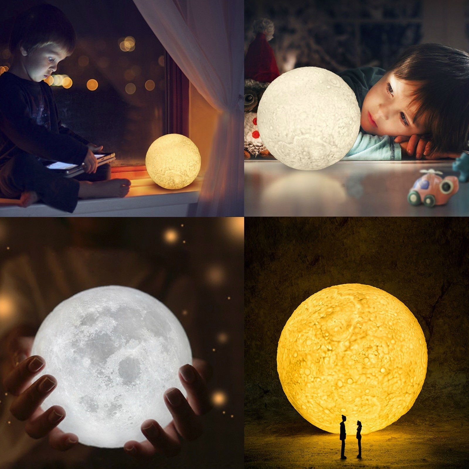 Luna 3d Moon Night Light Lamp Free Worldwide Shipping Limited Stock Remaining Only Sold At Cozydec Night Light Lamp Night Light Decorative Night Lights
