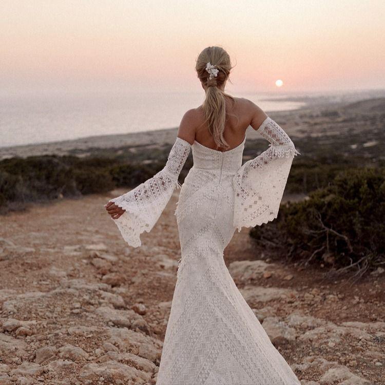 Suknia Slubna Boho Z Dlugimi Rekawami Nimue I Kolekcja 2020 2021 Sukien Slubnych Dama Couture Wedding Dresses Wedding Dresses Lace Dresses