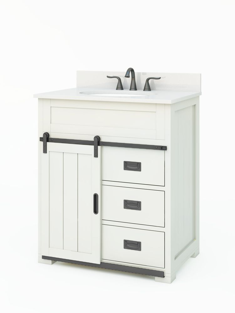 style selections morriston 30 in white single sink on lowes vanity id=81553