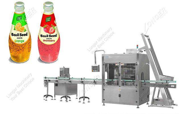 Electric Basil Seed Drink Bottle Filling Packaging Machine Packing Machine Drink Bottles