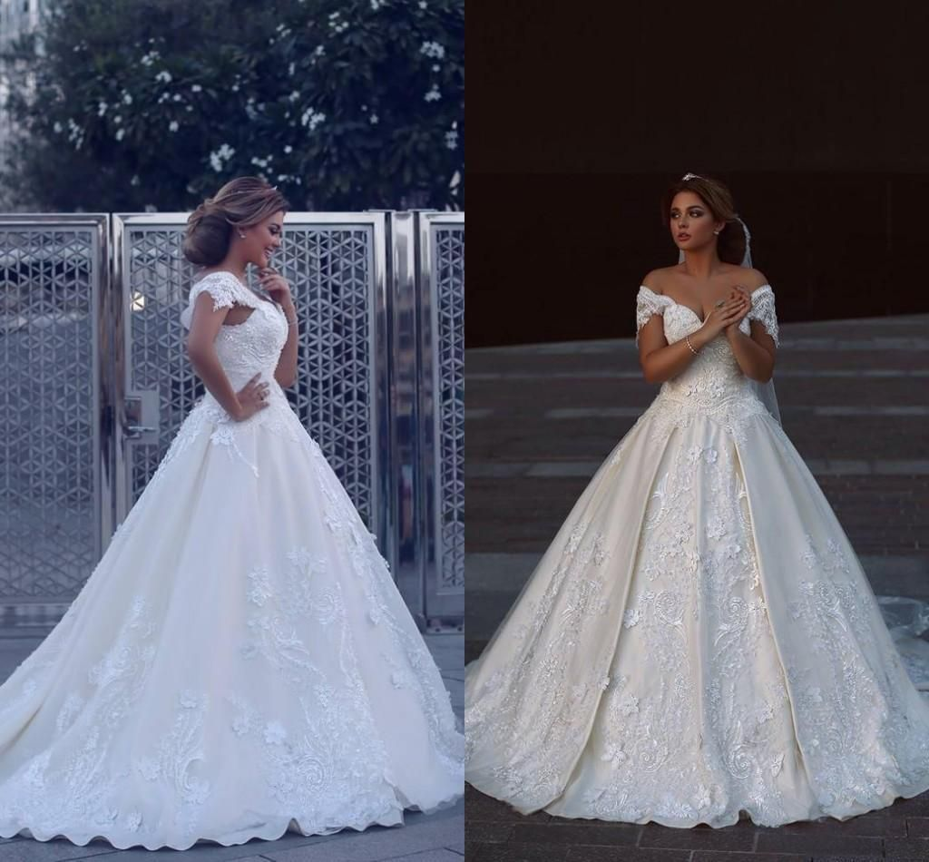 Awesome great new wedding dress white sexy appliques sleeveless