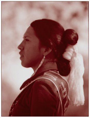 Traditional Navajo Womans Hair Dine Navajo Culture And People