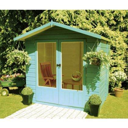 homewood avance summerhouse 7x5ft at homebase be inspired and make your house - Garden Sheds Homebase