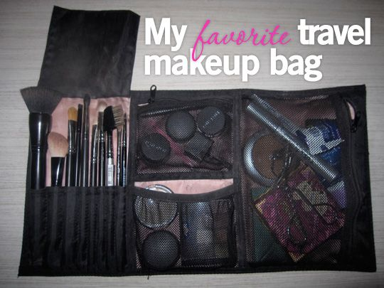 Travel Makeup Bags on Pinterest : Makeup bag organization, Makeup ...