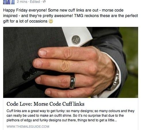 Morse Code Cufflinks on The Male Guide - The Male Guide is loving our Morse Code Cufflinks for sending out special messages. The perfect gift for those special loved ones. Xx