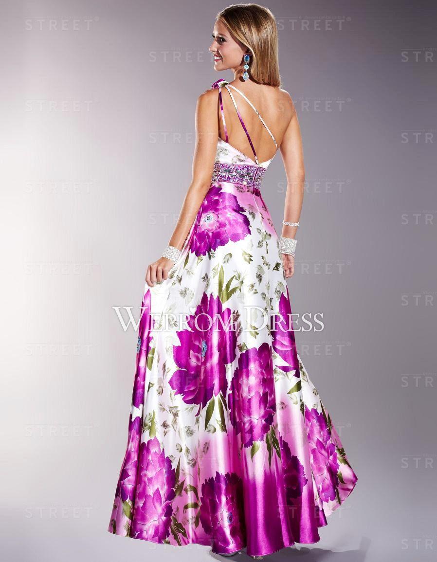 Elegante Tafetán Solo Hombro Como foto largo vestidos de fiesta para ...