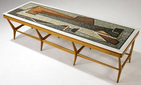 699 ico parisi altamira mosaic top coffee table on mesas for Altamira muebles