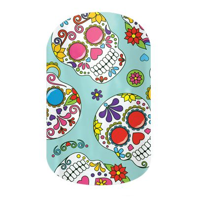 jamberry nail wraps graphic punch dia de los muertos halloween nails