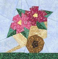 Flower Cart Paper-Pieced Quilt Pattern at Paper Panache