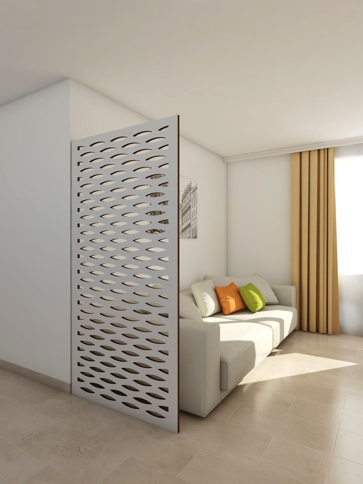 claustra room divider cateye en gris dans un salon nos paravents room dividers. Black Bedroom Furniture Sets. Home Design Ideas