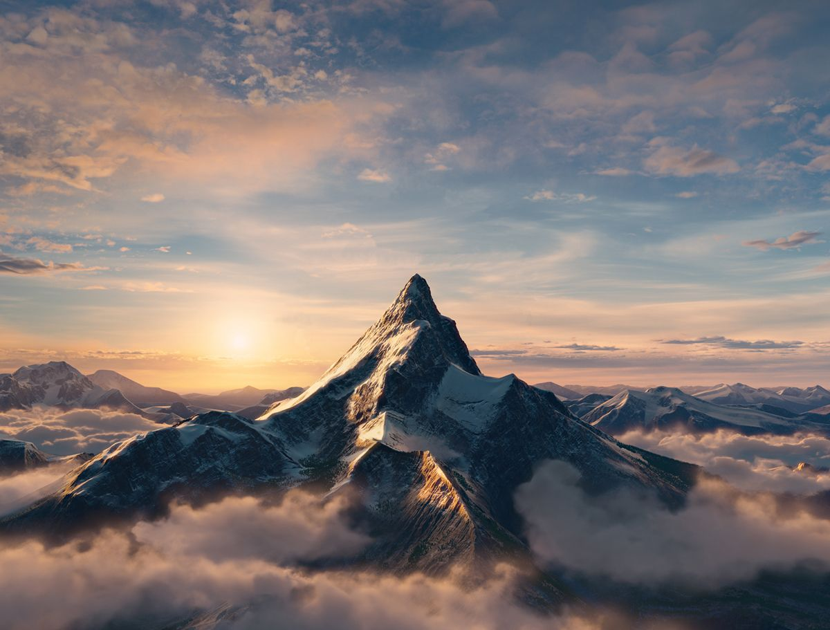 The Lonely Mountain E The Mountain From The Paramount Logo