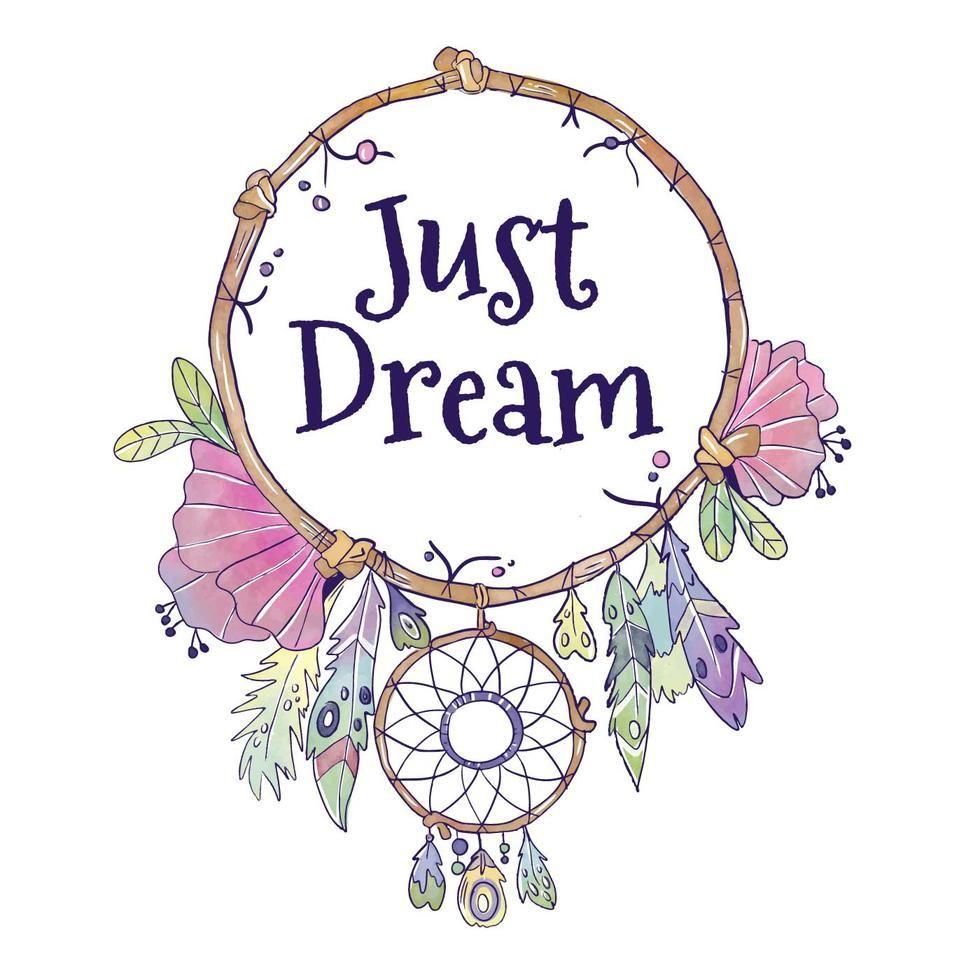 Cute Boho Dream Catcher With Quote | Dream catcher boho ...