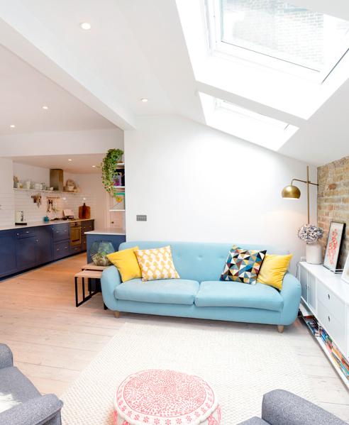 Loaf S Blue Monty Sofa In The Open Plan London Flat Designed