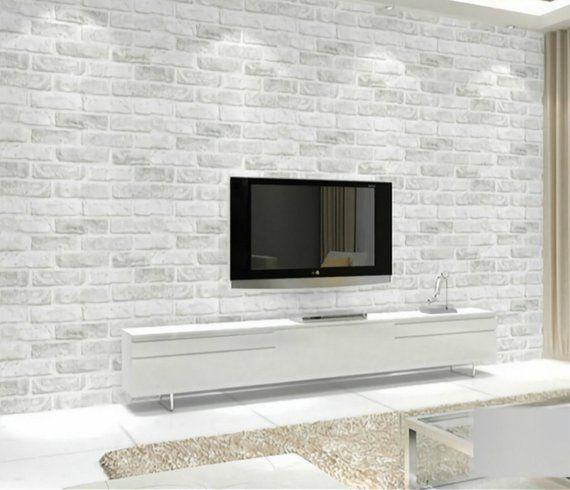 Image 0 Brick Wallpaper Living Room Brick Wall Bedroom White Brick Wallpaper