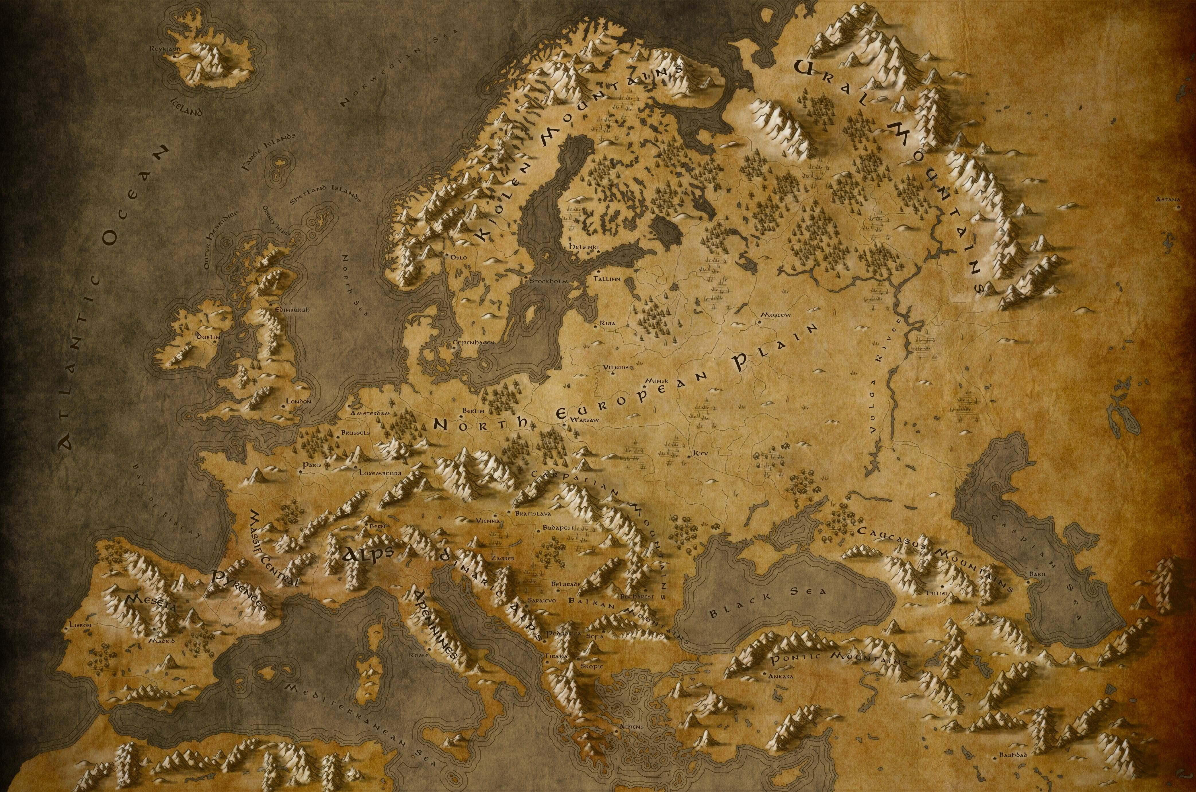 fantasy map of europe Pin by Catherine Marie on News | Europe map, Fantasy map making