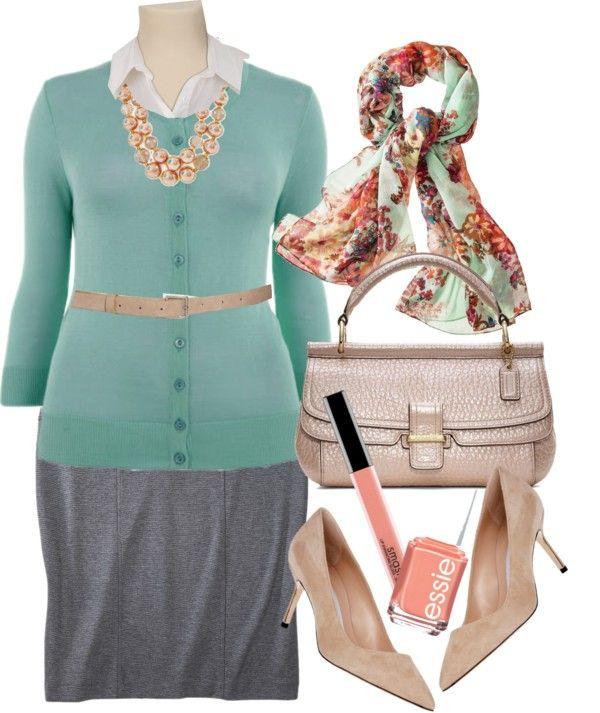 Office Style - für mich als Apfeltyp dann allerdings mit einem Cardigan mit V-Ausschnitt und Pumps mit Blockabsatz