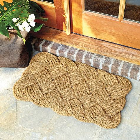 Braided knot door mat ballard designs