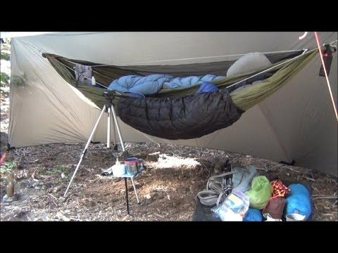 backpacking hammock camping overnight camping hammock winter