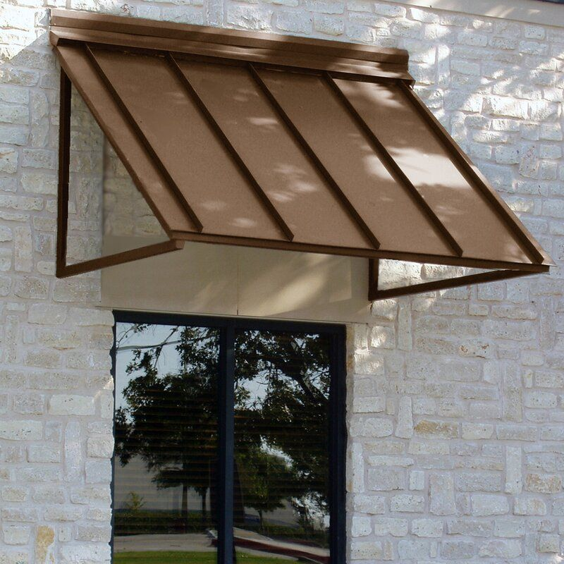 Houstonian Metal Standard Window Awning In 2020 Window Awnings Standing Seam Door Awnings