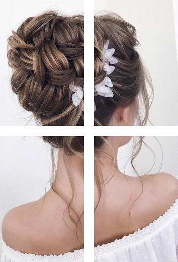 Einfache Hochsteckfrisuren für mittleres Haar Süße ausgefallene Frisuren | Easy Up Styles für die Schulter …