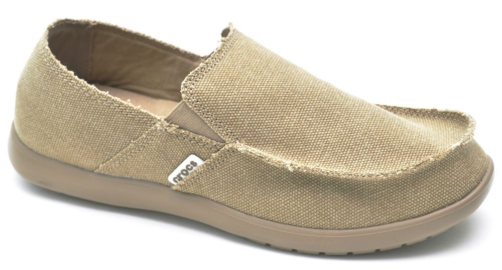 0bfe4b64346e Crocs KALEB Khaki Canvas Moccasins Slip-Ons Shoes Relaxed Fit Men s - NEW   Crocs  LoafersSlipOns