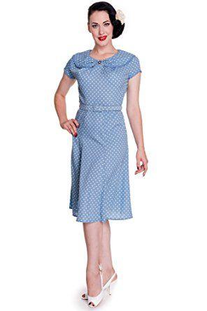 Hell Bunny Kleid INGRID DRESS 4326 Blau S   Spring and Summer ...