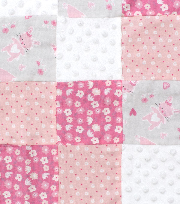 Nursery 3d Patchwork Fabric Cute As A Bunny Nursery Fabric Baby