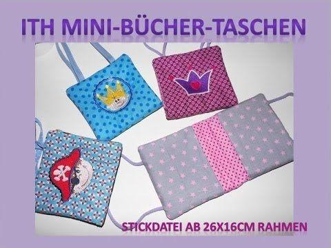 Anleitung für ITH Mini-Bücher-Tasche 26x16cm - YouTube