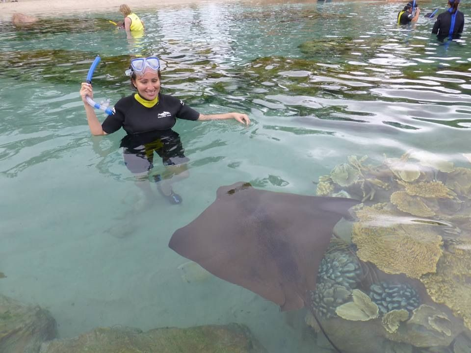 Discovery cove, Florida swimming with stingrays