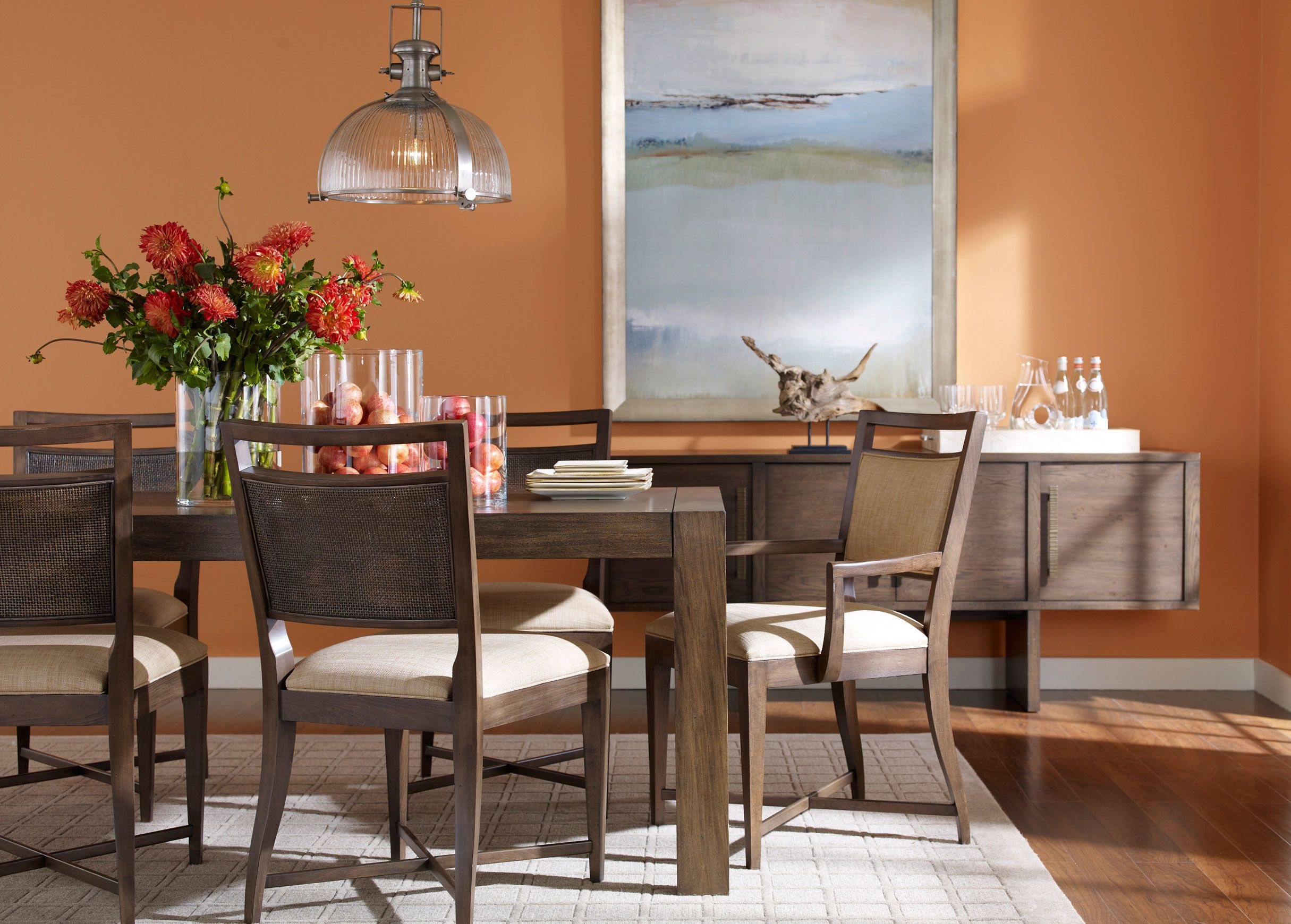 Our Take On A Classic Asian Table Style Ryker Has Gorgeous Grain That Runs The Full Length Of Its Fixed Top