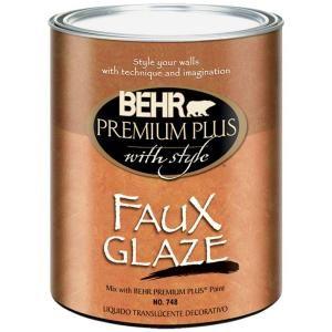 Behr Premium Plus 1 Qt Satin Faux Glaze 74804 At The Home Depot Glazing Furniture Tea Stains Glaze Paint