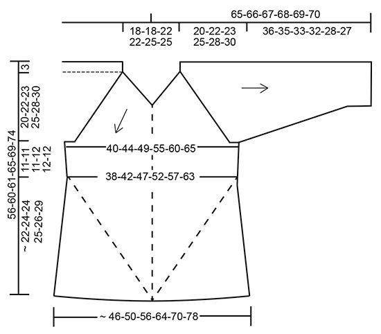 Jersey tejido de arriba abajo con raglán y patrón de calados en DROPS BabyAlpaca Silk. Talla S - XXXL. Patrón gratuito de DROPS Design.