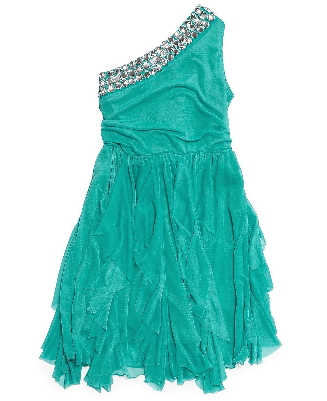 Ruby Rox Girls\' One-Shoulder Dress - Kids Girls 7-16 - Macy\'s | Kira ...