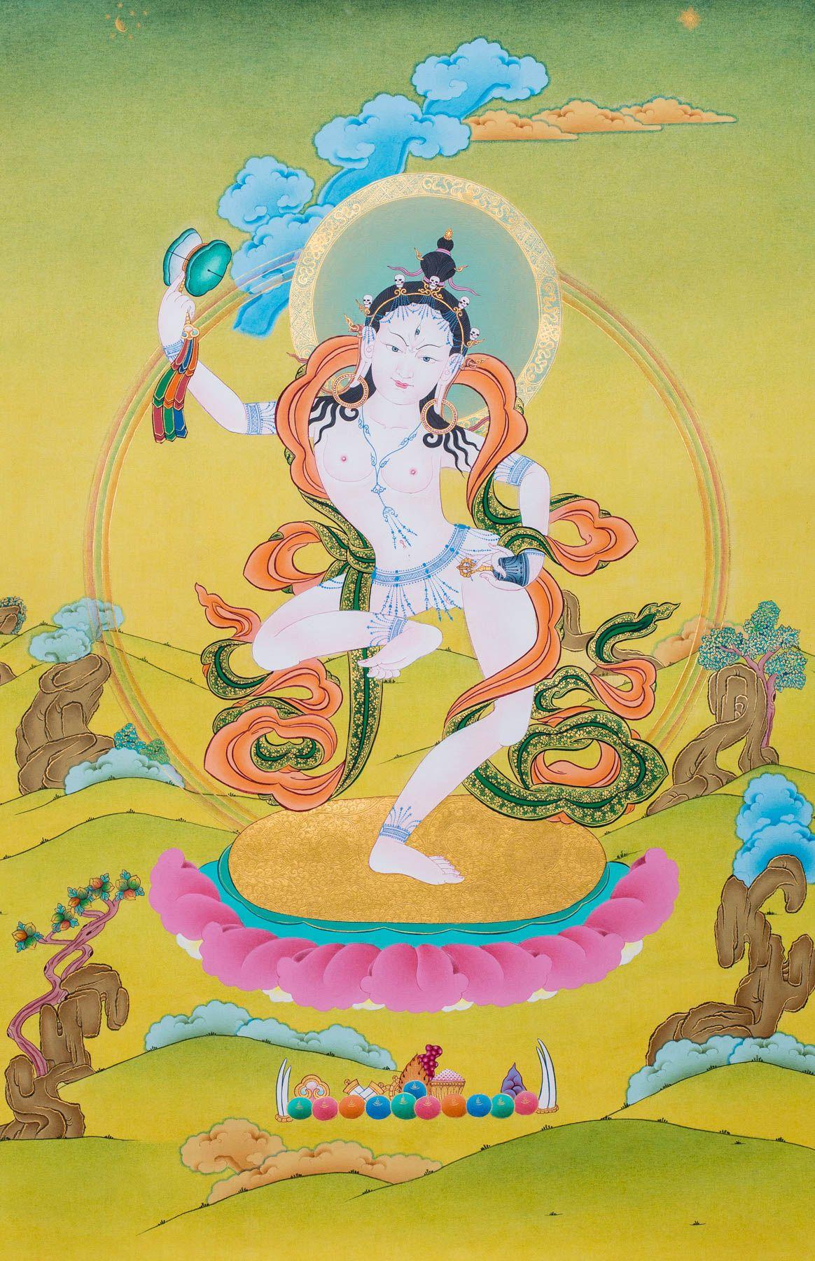Machig ii original thangka images of enlightenment pinterest karma gadri style in antique color 40x60cm fandeluxe Images
