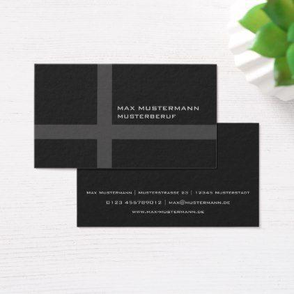Moderne Professionelle Schwarze Visitenkarte Business Card