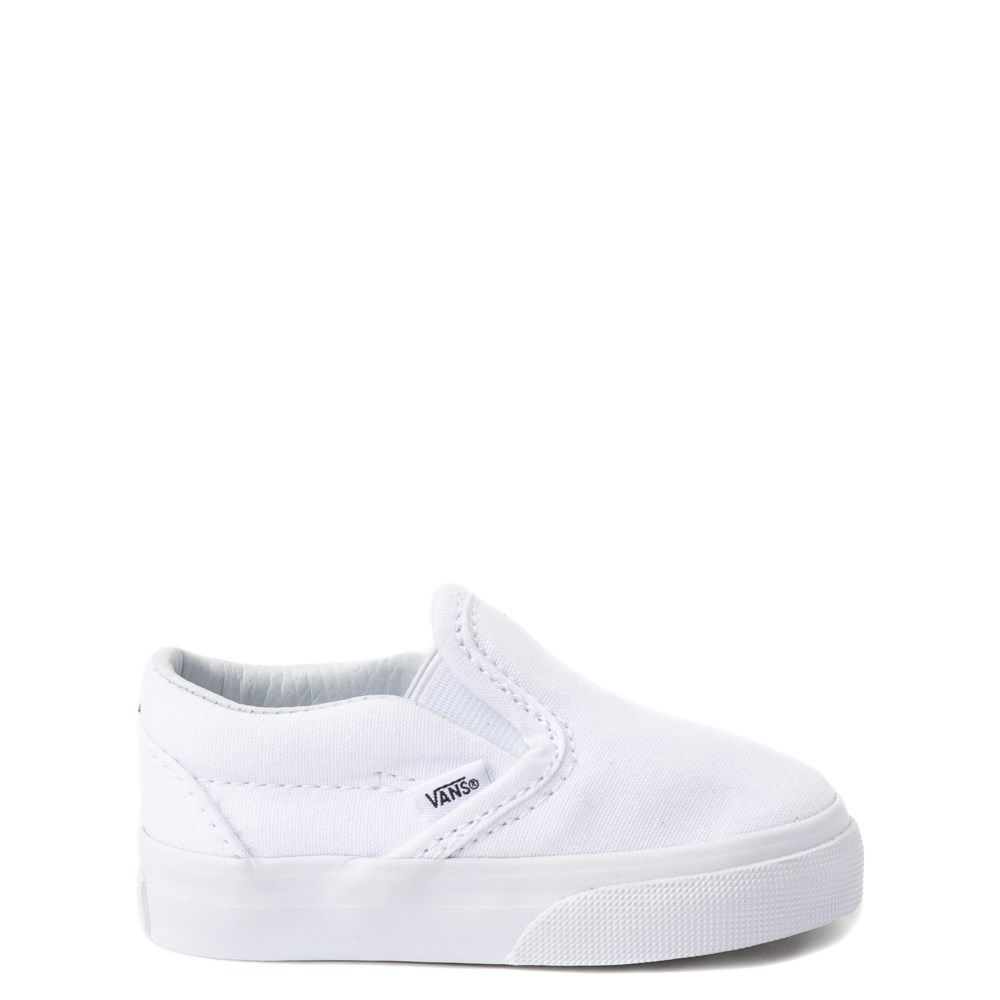 white slip on kids
