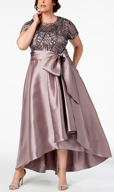 Plus Size High Low Gown Plus Size Party Dress Plussize Vestidos Estilosos Plus Size Vestidos Formais Vestidos