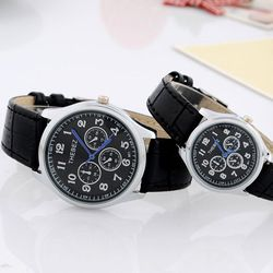 The Classic Watch Three Eye Six Stitches High-Grade Leather Retro Couple Watches